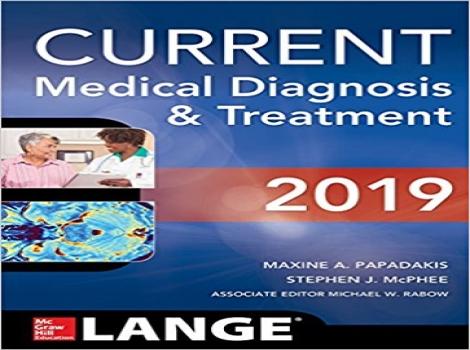 دانلود کتاب تشخیص و درمان پزشکی کارنت CURRENT Medical Diagnosis and Treatment 2019 58 ED