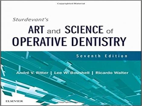دانلود کتاب علم و هنر دندانپزشکی ترمیمی استوردیوانت 2019 Sturdevant's Art and Science of Operative Dentistry 7 ED ویرایش هفتم 2019