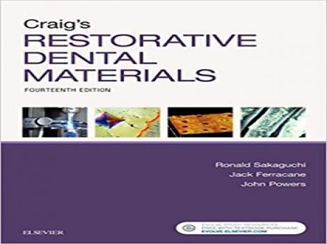 دانلود کتاب مواد دندانی ترمیمی کریگ ۲۰۱۹ Craig's Restorative Dental Materials 14 ED ویرایش چهاردهم 2019